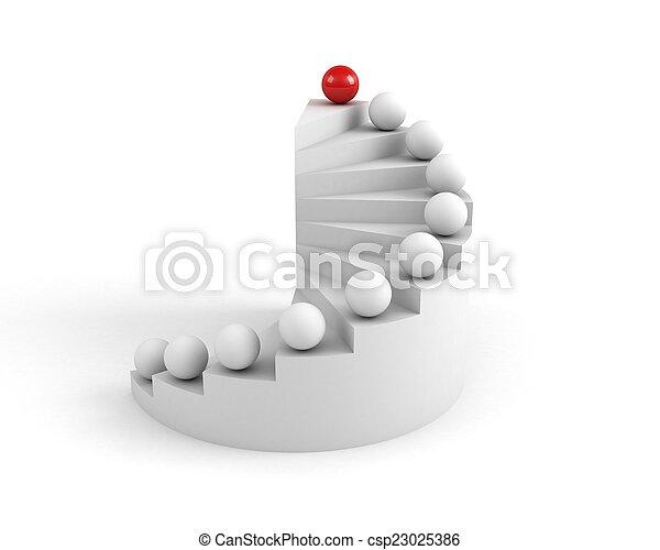 pojem, schody, success., vůdcovství - csp23025386