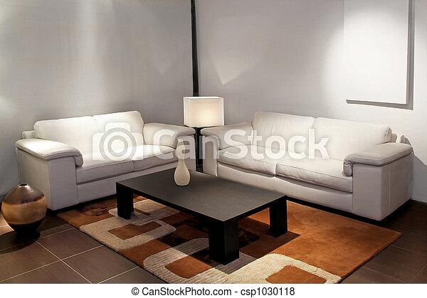 pokój, żyjący, biały - csp1030118