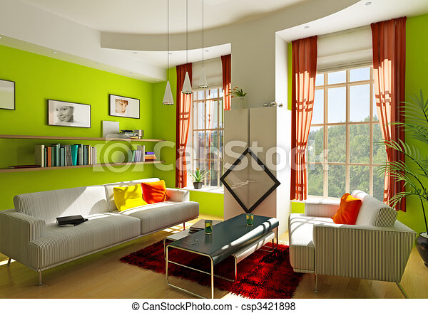 pokój, żyjący - csp3421898