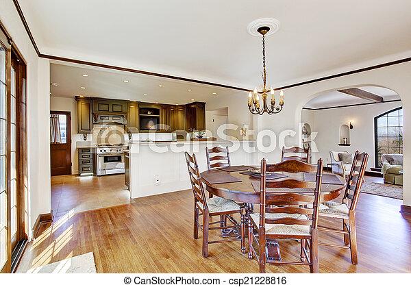 Pokój Krzesła Jadalny Luksus Stół Okrągły