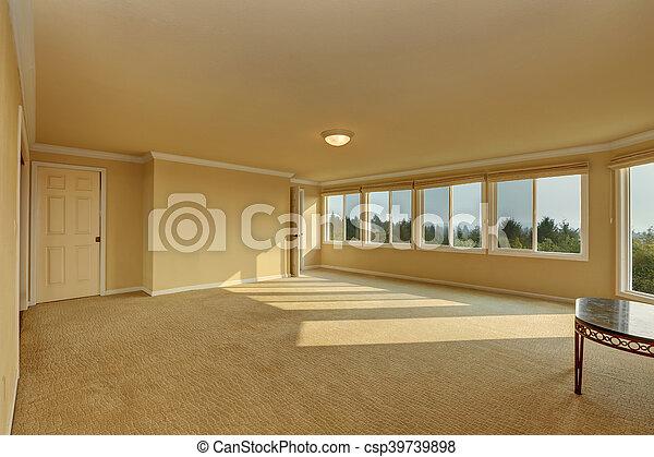 Pokój Podłoga żółty Kolor Beżowy Opróżniać Dywan