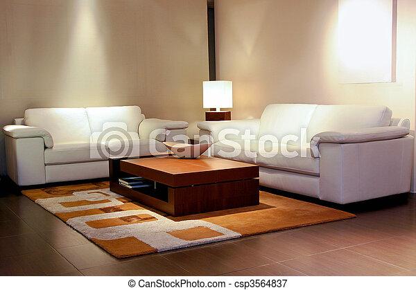 pokój, róg, żyjący - csp3564837