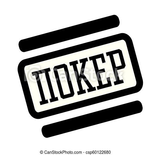 poker black stamp - csp60122680