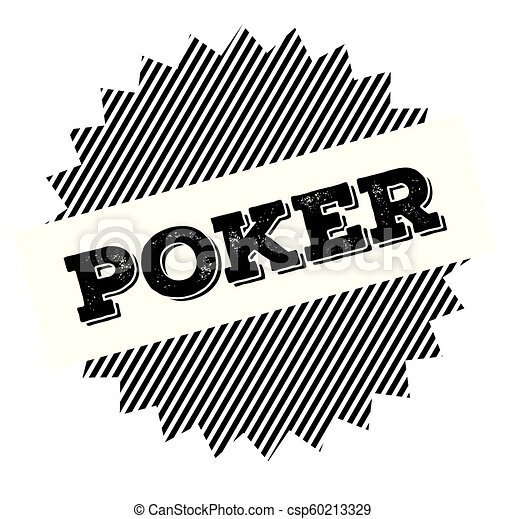 poker black stamp - csp60213329