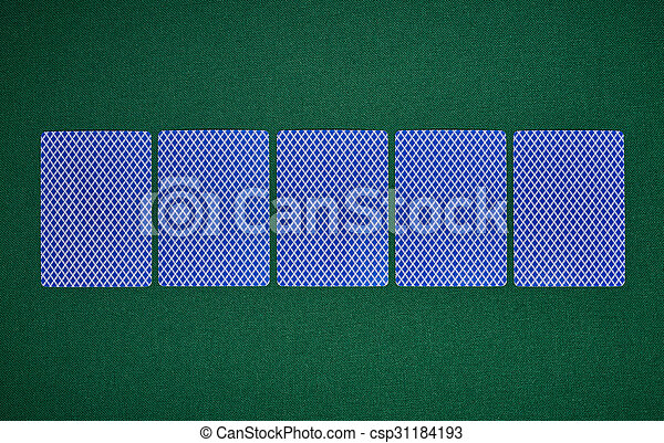 Poker blank cards on table - csp31184193