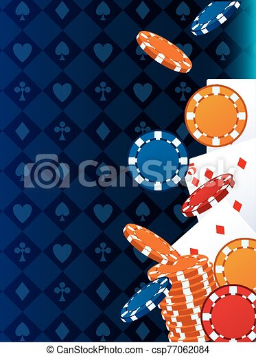 poker cards and chips betting game gambling casino - csp77062084