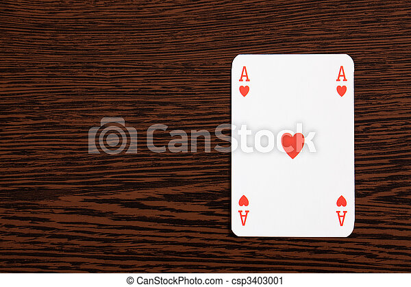 poker cards on table - csp3403001