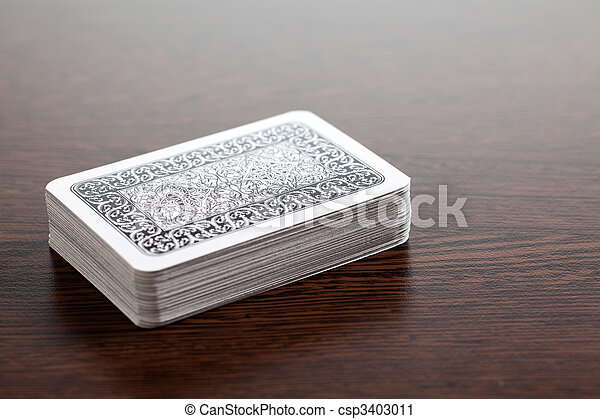 poker cards on table - csp3403011
