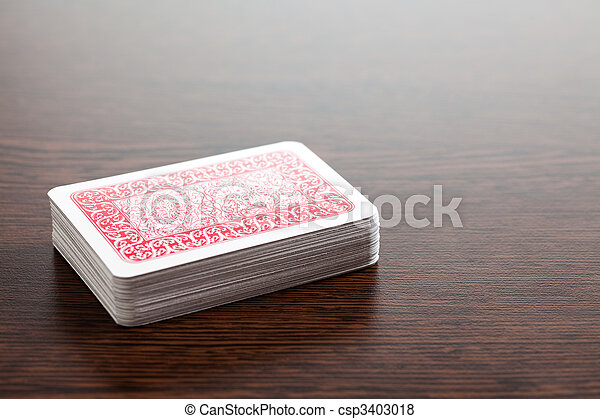 poker cards on table - csp3403018