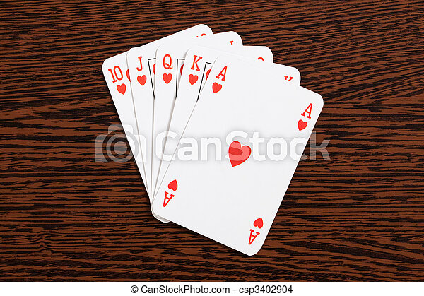 poker cards on table - csp3402904