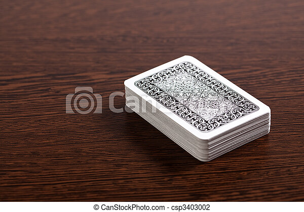 poker cards on table - csp3403002
