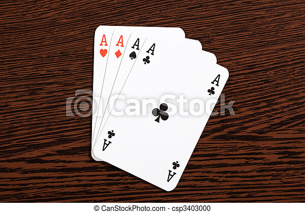poker cards on table - csp3403000