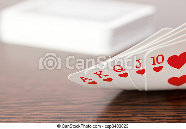 poker cards on table - csp3403023