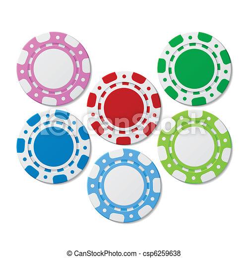 Poker chips - csp6259638