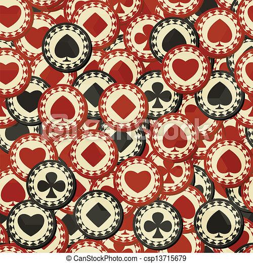 Poker chips seamless - csp13715679
