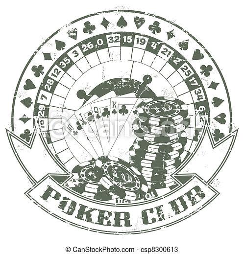 Poker club a stamp - csp8300613