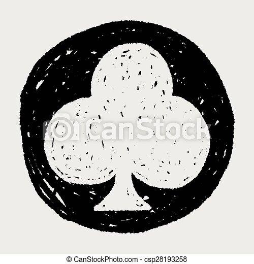poker club doodle - csp28193258