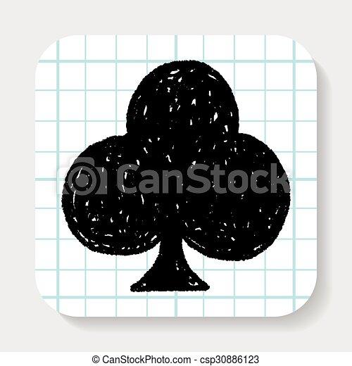 poker club doodle - csp30886123