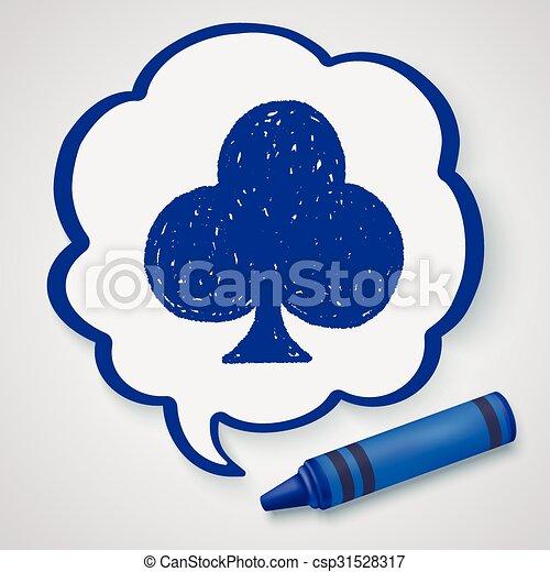 poker club doodle - csp31528317