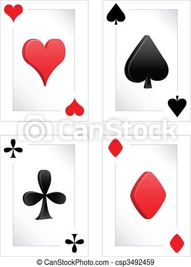 Poker clubs diamonds hearts spades - csp3492459