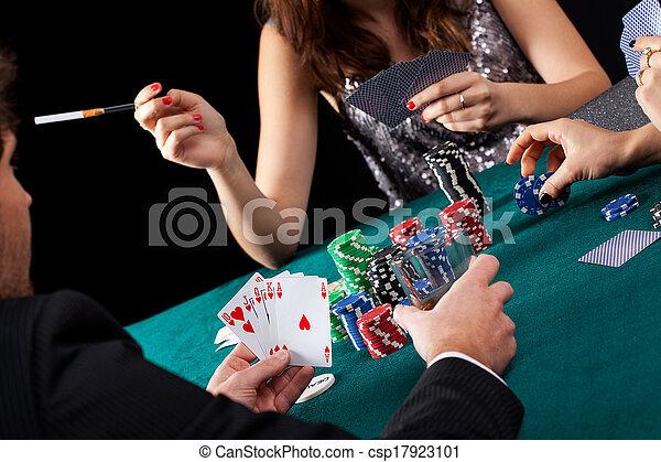 Poker gambling table - csp17923101