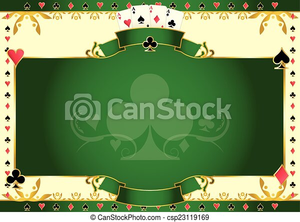 Poker game ace of clubs horizontal background - csp23119169
