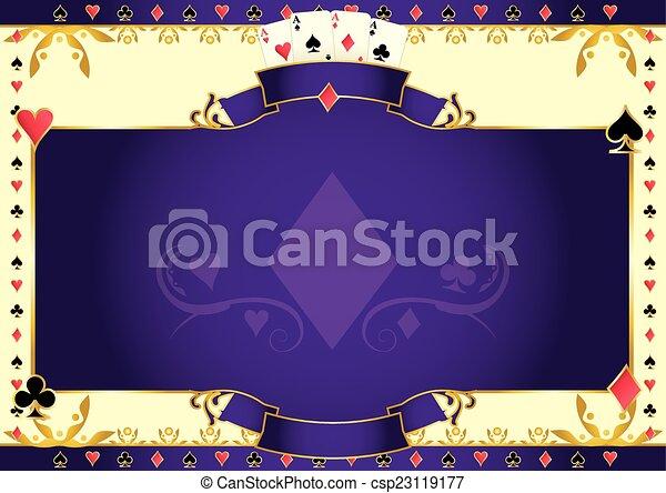 Poker game ace of diamonds horizontal background - csp23119177