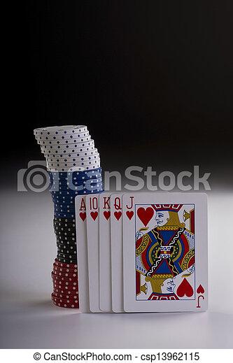 Poker Hand. - csp13962115