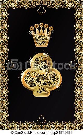 Poker playing card Club symbol - csp34879686