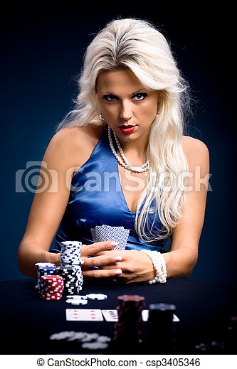 poker, ragazza - csp3405346