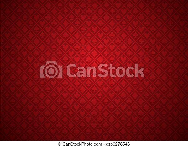 poker, sfondo rosso - csp6278546