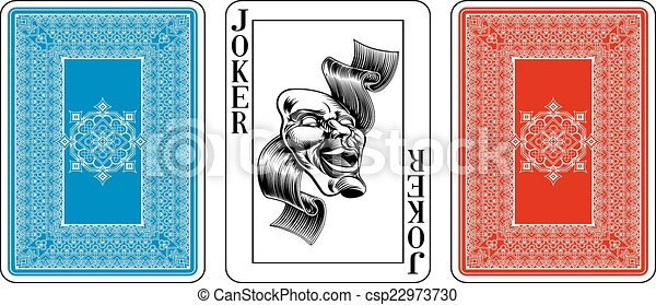 Poker size Joker playing card plus reverse - csp22973730