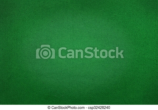 Poker table felt background in green color - csp32428240