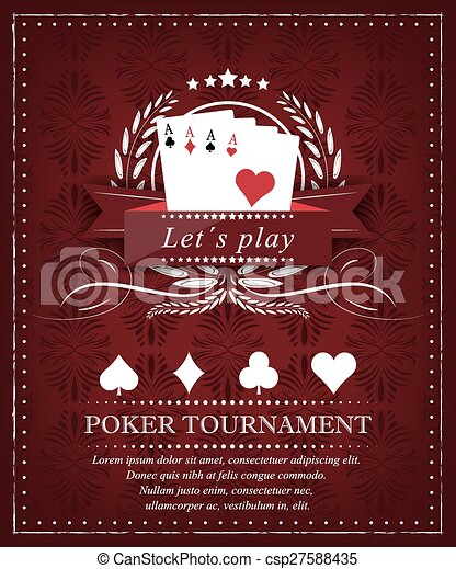 Poker tournament background - csp27588435