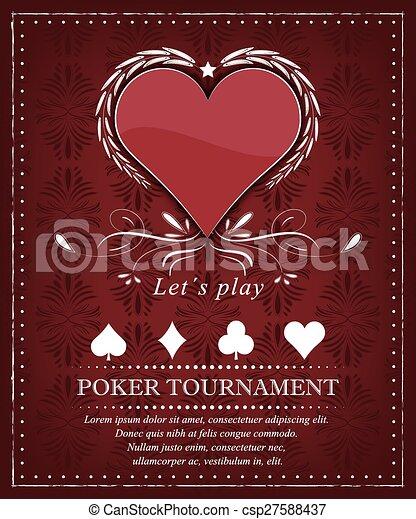 Poker tournament background - csp27588437