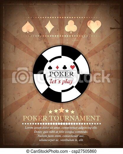 Poker tournament vector background - csp27505860