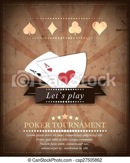 Poker tournament vector background - csp27505862