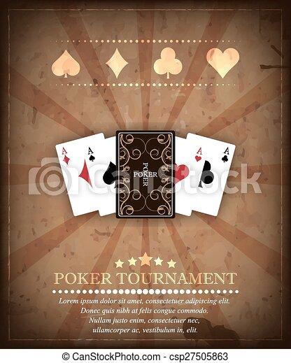 Poker tournament vector background - csp27505863