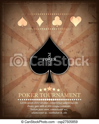 Poker tournament vector background - csp27505859