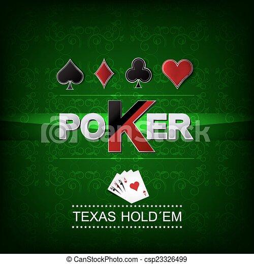 Poker vector background - csp23326499