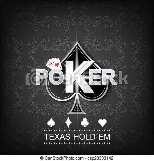 Poker vector background - csp23303142