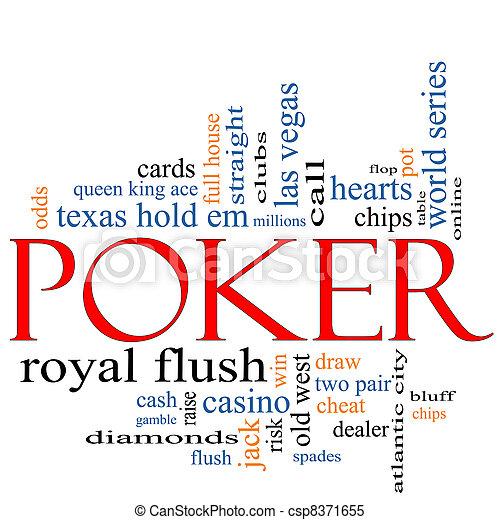Poker Word Cloud Concept - csp8371655
