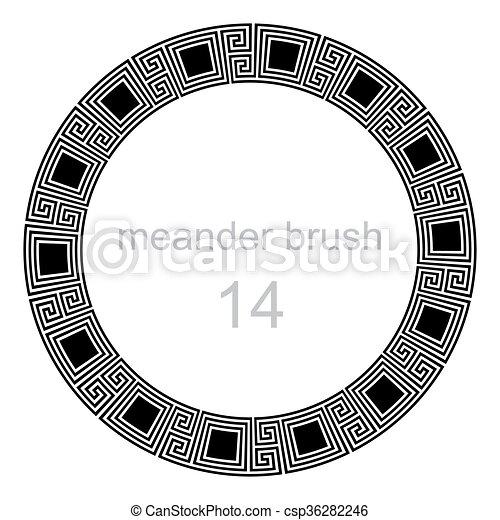 pokręcić, próbka, starożytny, meandry - csp36282246