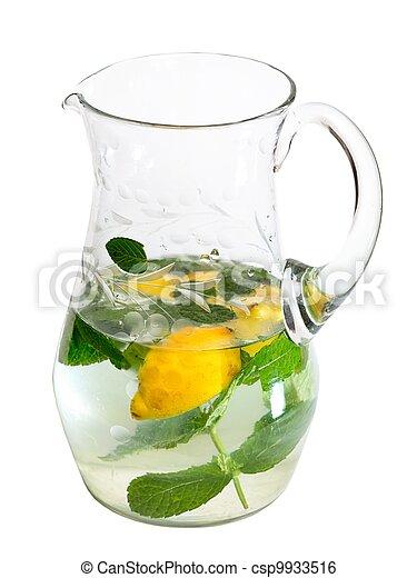 pokrzepiający, napój, dzban, odizolowany, tło, biały - csp9933516