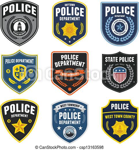 polícia, remendos - csp13163598