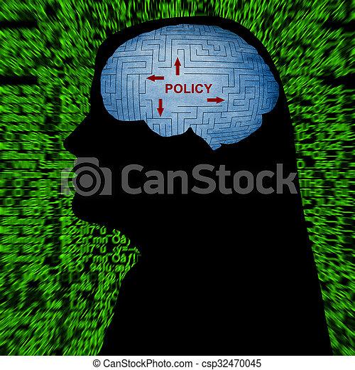 política, mente - csp32470045