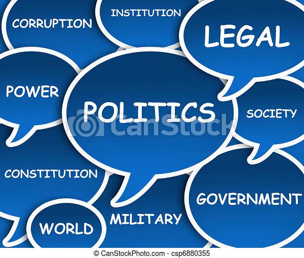 política, nube - csp6880355