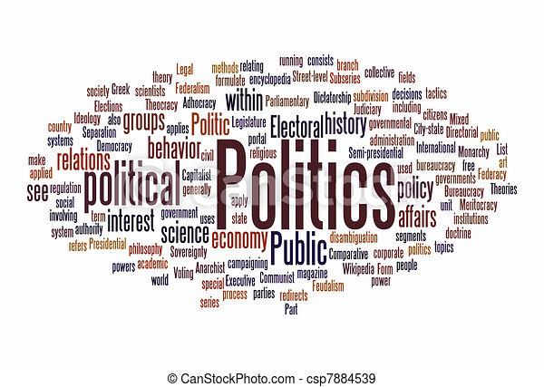 política, nuvem, texto - csp7884539