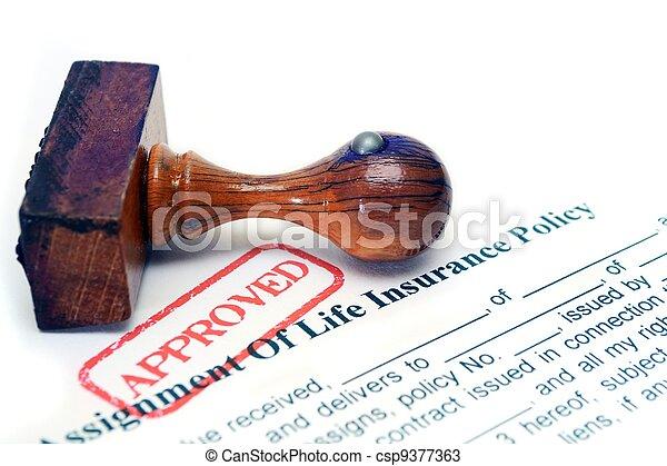 Política de seguro de vida - csp9377363