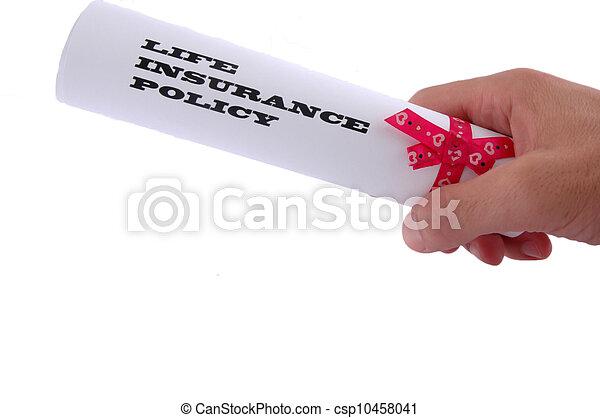 Política de seguro de vida - csp10458041
